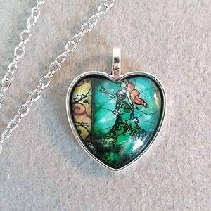 Goddess mother earth heart pendant necklace